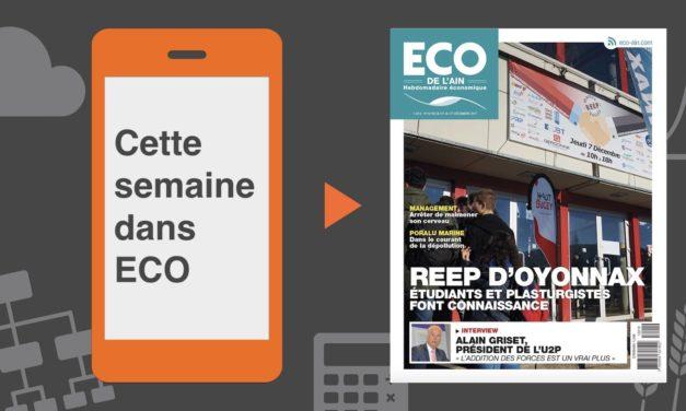 Votre magazine ECO de l'Ain du 21 décembre 2017