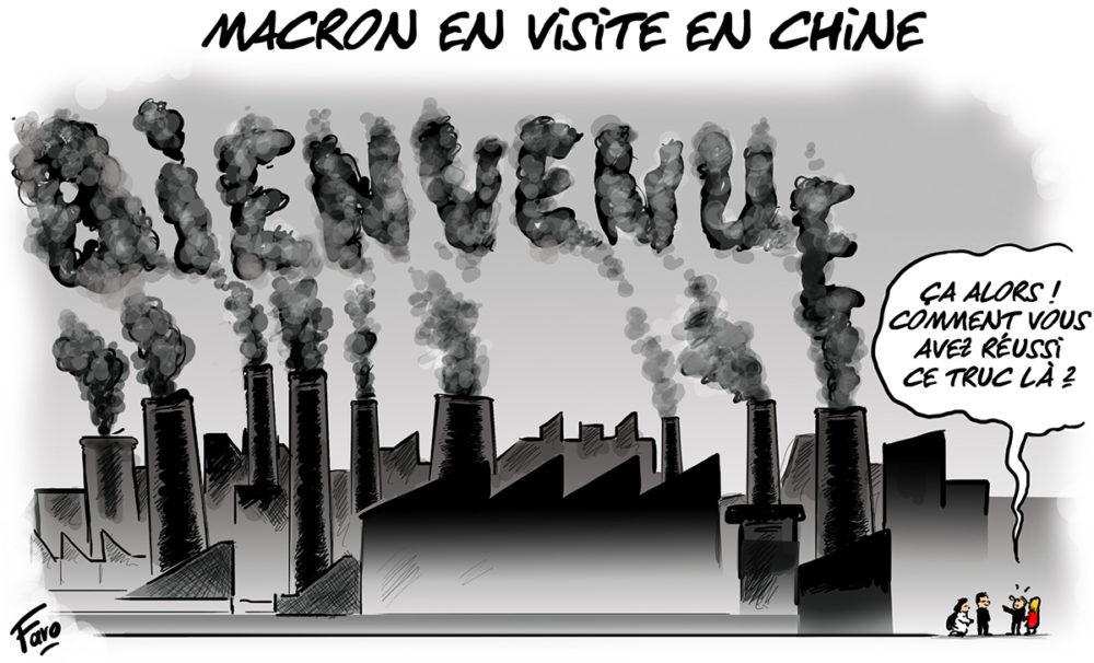 La visite d'Emmanuel Macron en Chine selon Faro