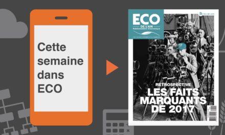 Votre magazine ECO de l'Ain du 28 décembre 2017