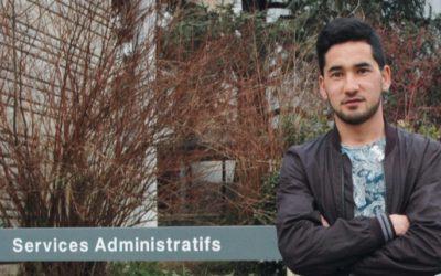 Khairollah, réfugié au lycée agricole de Poisy