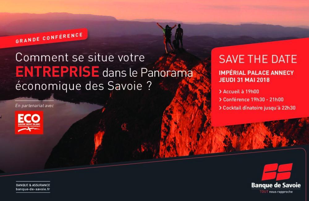 Conférence Banque de Savoie, animée par Eco Savoie Mont Blanc : situer votre entreprise dans le panorama économique des Savoie