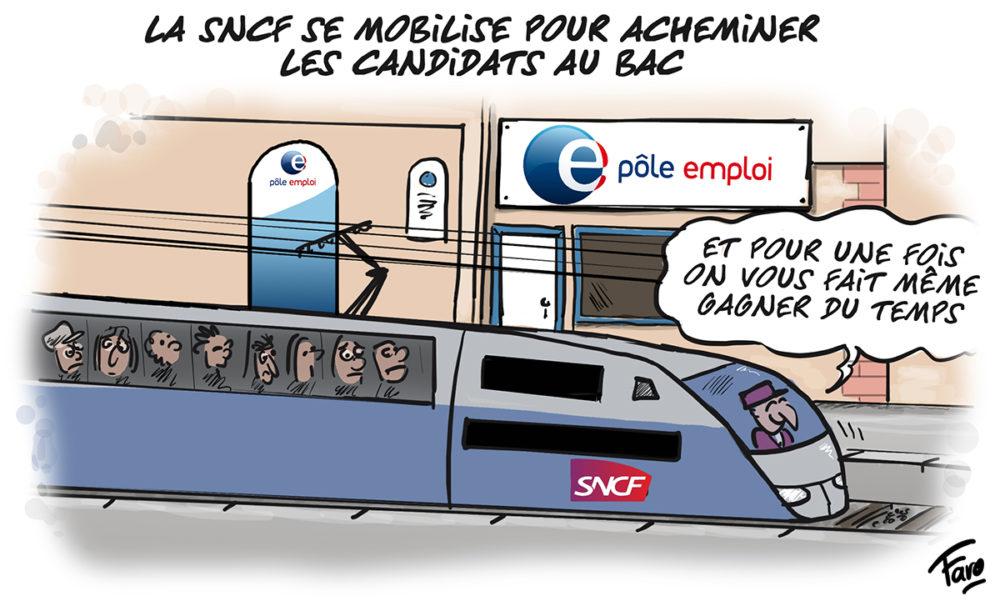 La SNCF et le bac, vus par Faro