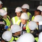 Le président du parlement européen visite le chantier du Lyon – Turin