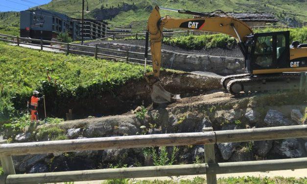 Le chantier de la centrale hydroélectrique de Tignes en images