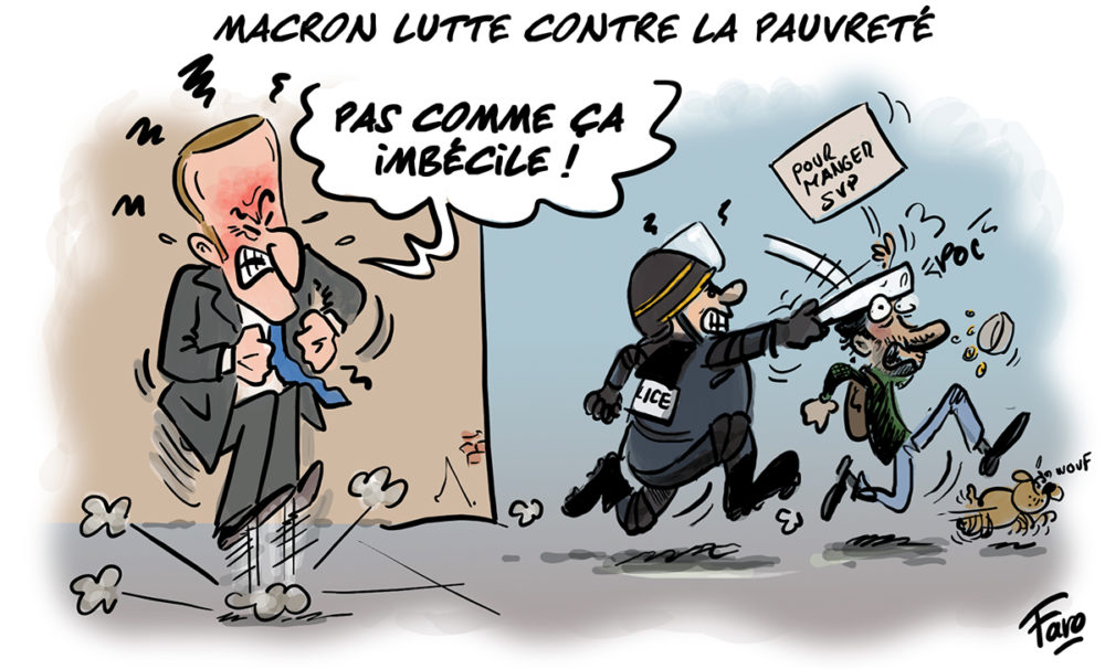 Le plan de lutte contre la pauvreté d'Emmanuel Macron vu par Faro