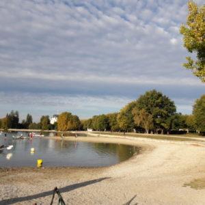 Le lac d'Annecy à marée basse