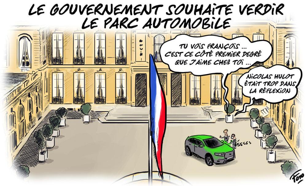 La volonté du gouvernement de verdir le parc automobile, selon Faro