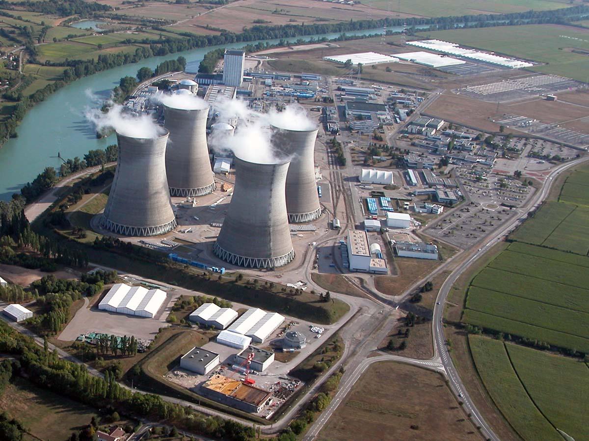 Centrale nucléaire du Bugey vue nord