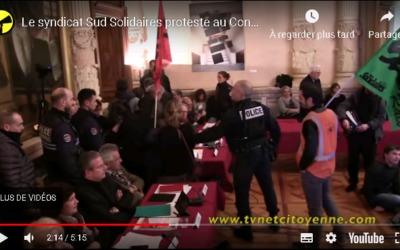 Chambéry : la TVNet Citoyenne proteste contre la mairie
