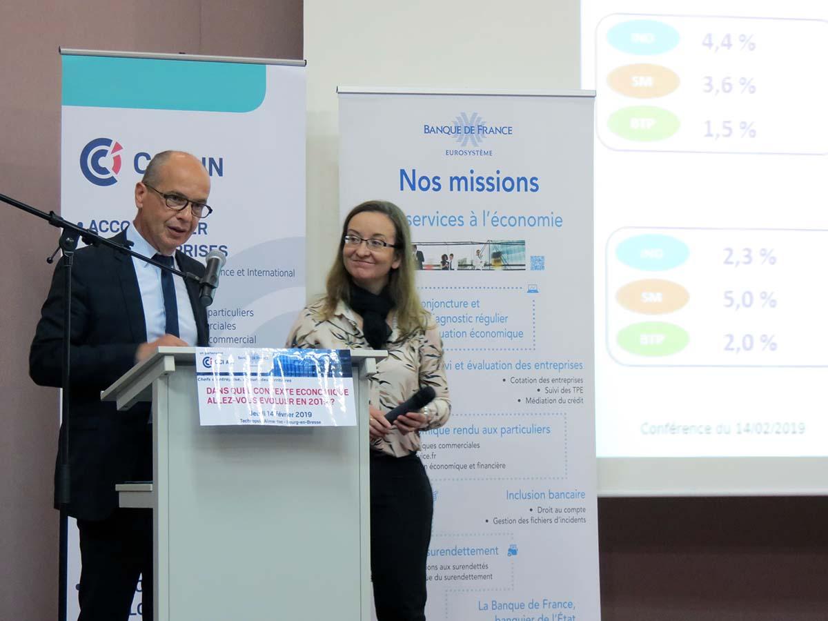 Conjoncture Banque de France-CCI, Patrick Croissandeau et Chantal Rovri.
