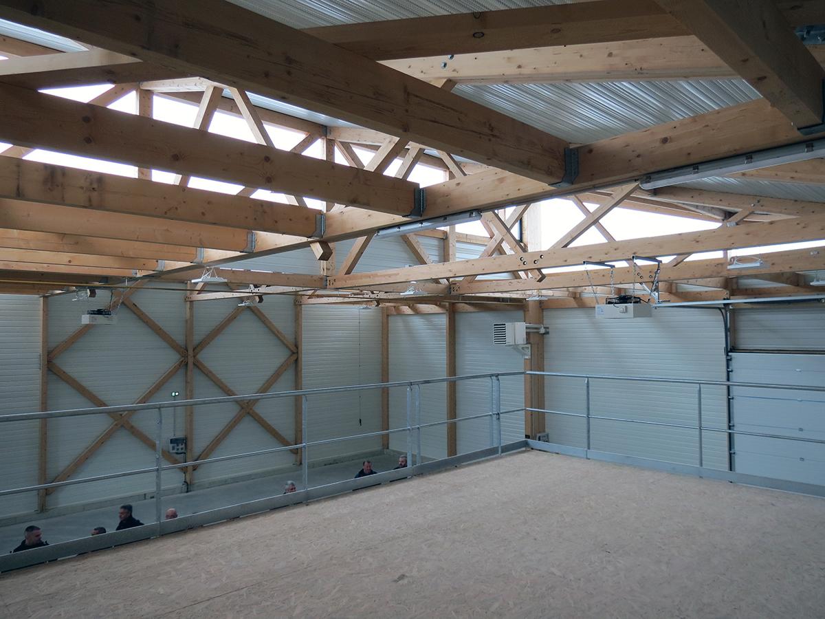 Les sheds de l'hôtel d'entreprises de la CC de la Dombes.