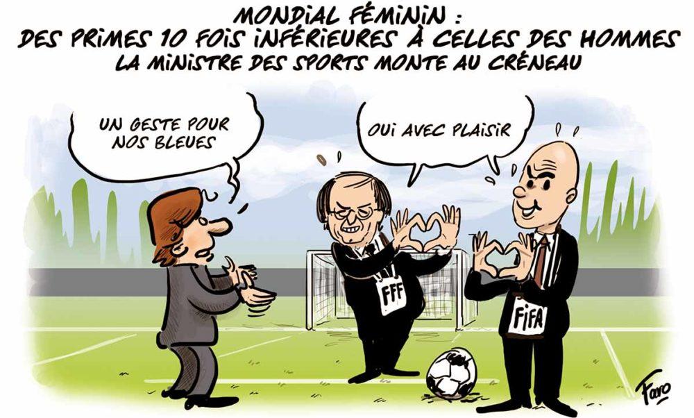 La rémunération des fémines de l'équipe de France de football, vue par Faro