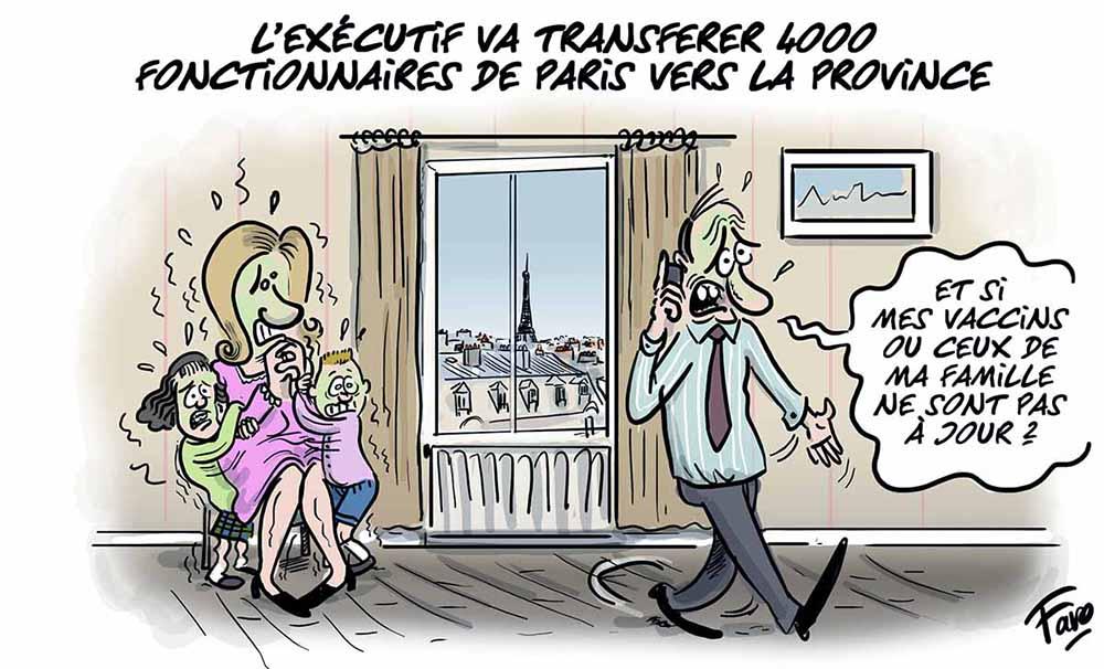Le transfert des fonctionnaires vers la Province, vu par Faro