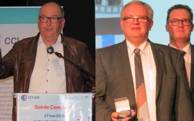 Une médaille du commerce pour Jacques Dhrouin et Pascal Perrault