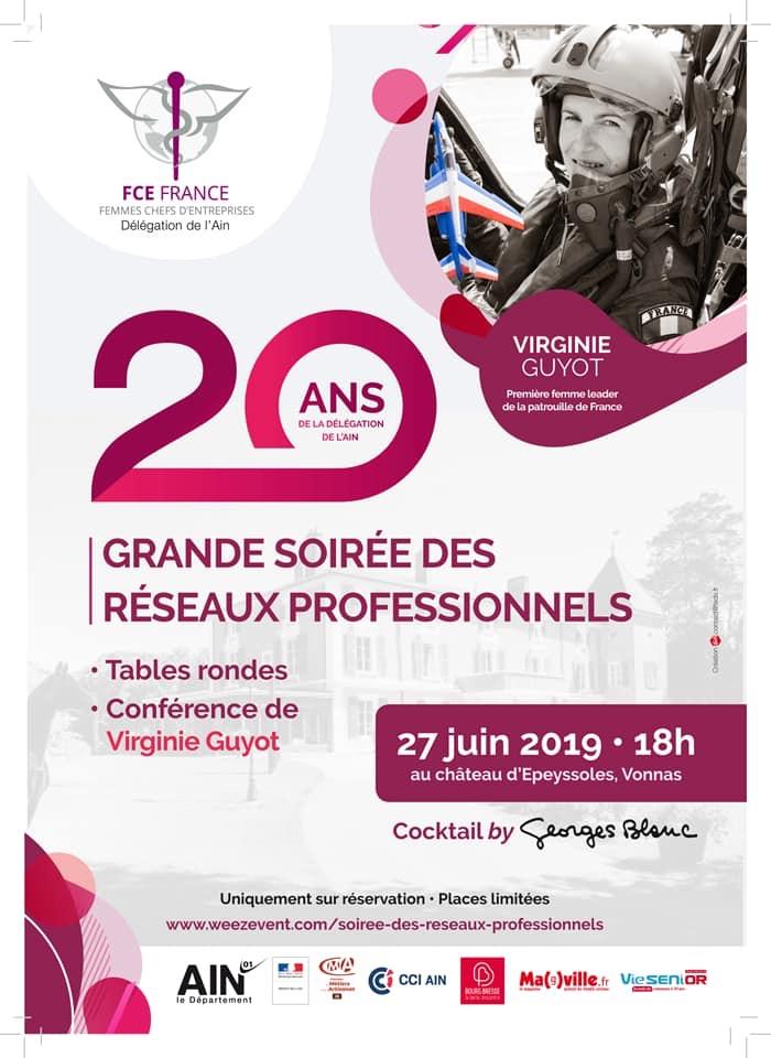Affiche 20 ans FCE de l'Ain, Femmes chefs d'entreprise