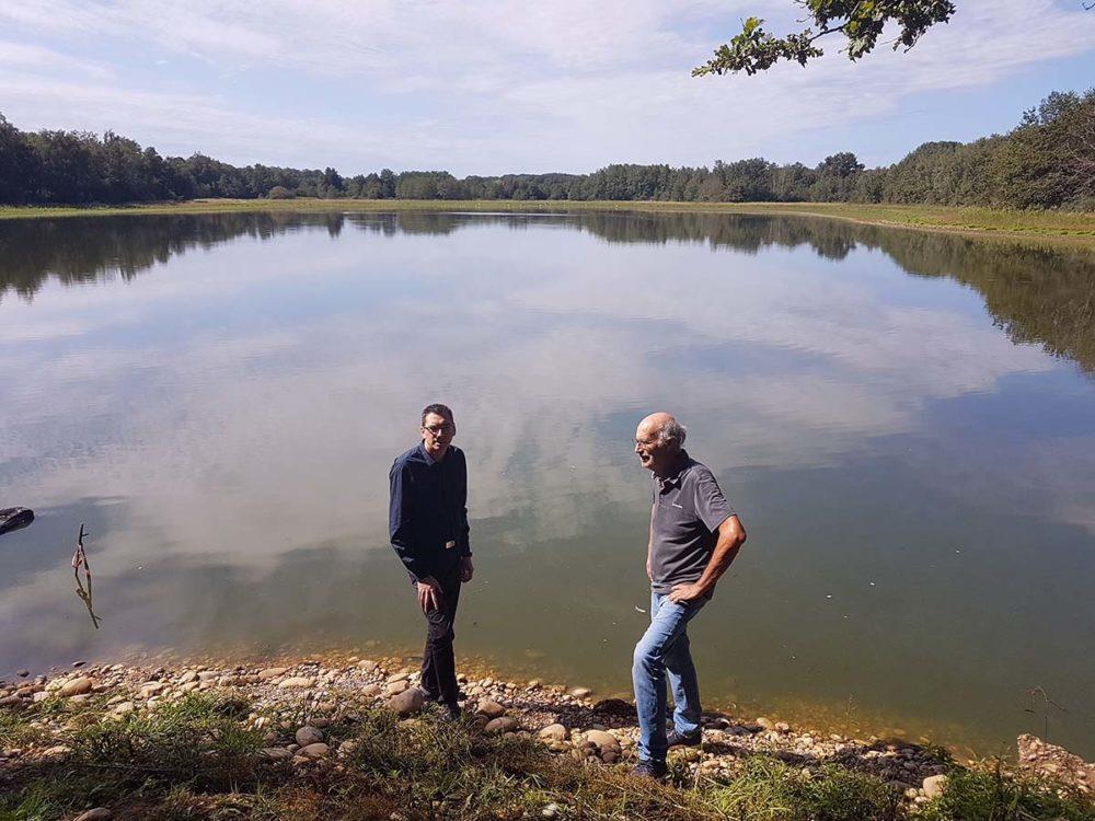 Aquaculture sécheresse, Alexandre Nanchi, Jean-Luc Payet Pigeon ©Conseil régional Auvergne-Rhône-Alpes