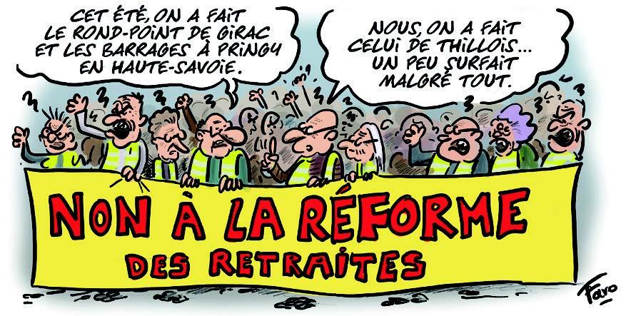 La mobilisation contre la réforme des retraites vue par Faro