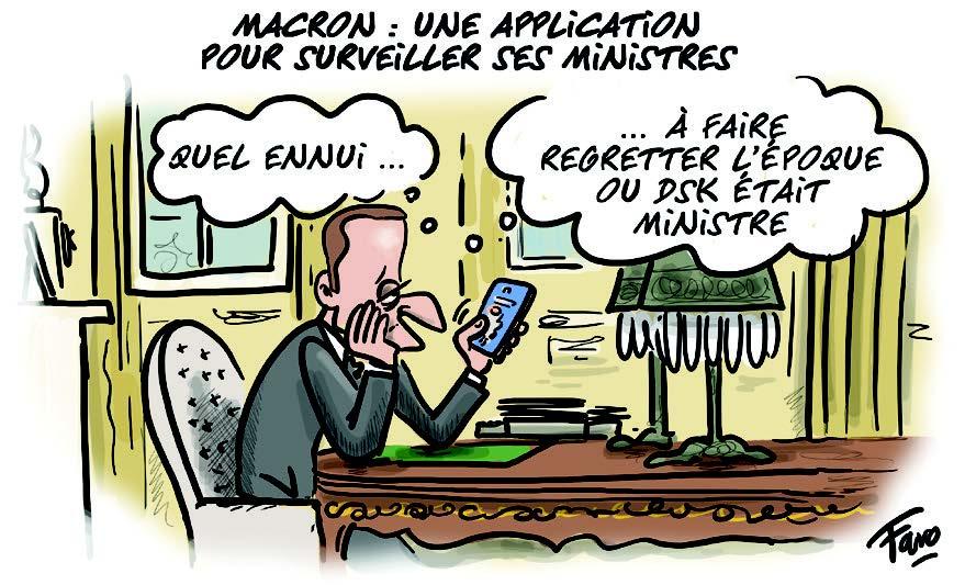 L'appli de Macron pour suivre ses ministres, selon Faro