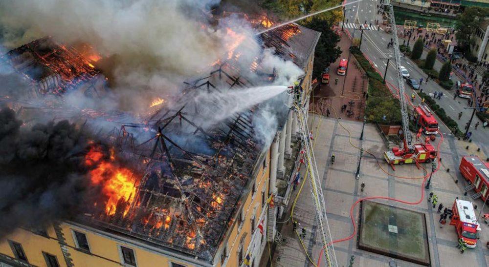 Incendie : la mairie d'Annecy  panse ses plaies