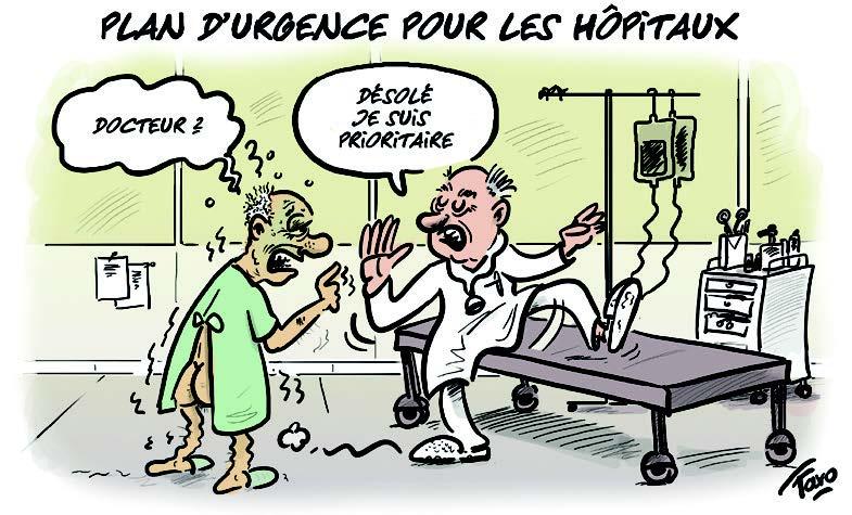 Le plan d'urgence pour les hôpitaux croqué par Faro
