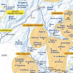 La carte des domaines skiables de Savoie et de Haute-Savoie 2019-2020