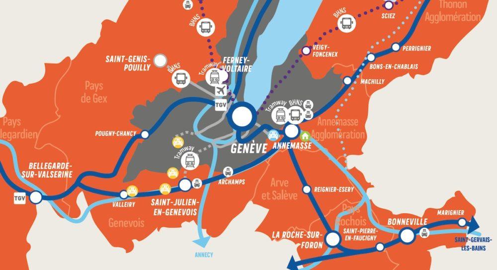 Mobilité en Genevois: le mode individuel cède du terrain aux réseaux collectifs