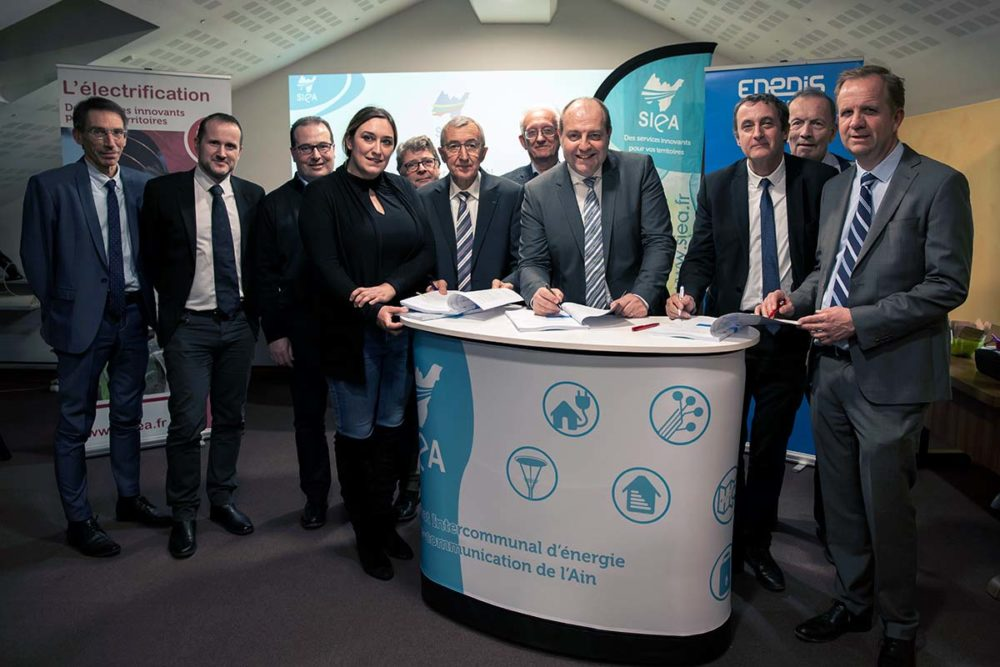 Signature contrat SIEA, Enedis, EDF