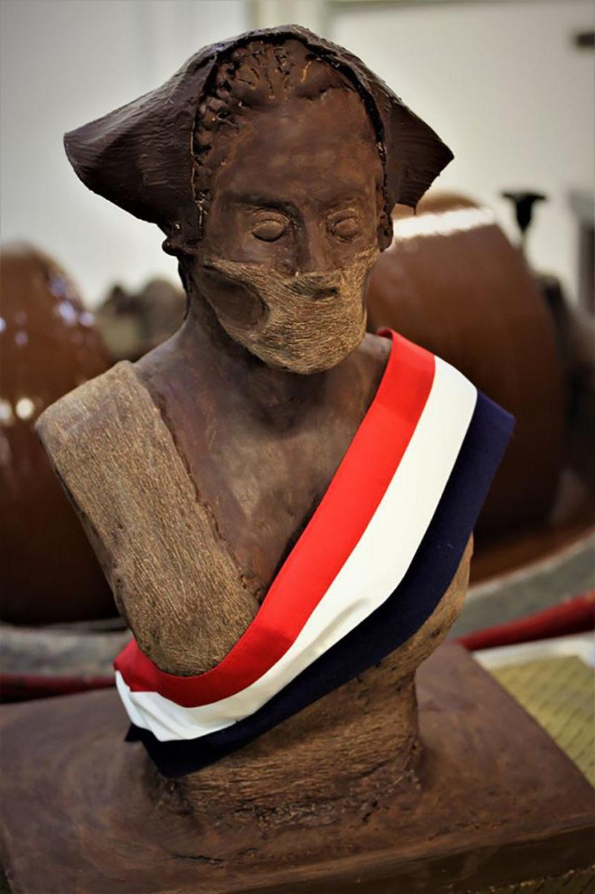 La Marianne en chocolat réalisée par Franck Berger