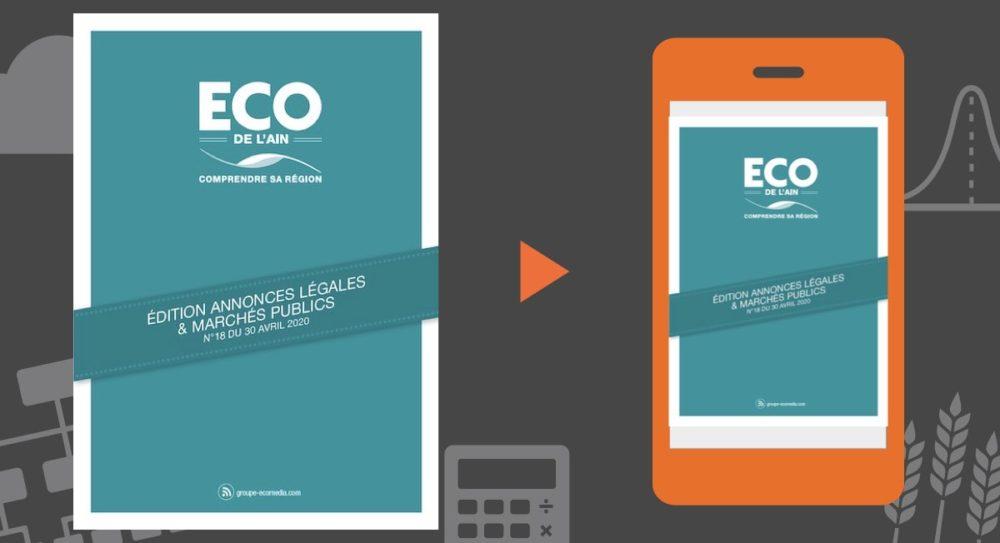 Vos annonces légales et marchés publics ECO de l'Ain du 30 avril 2020