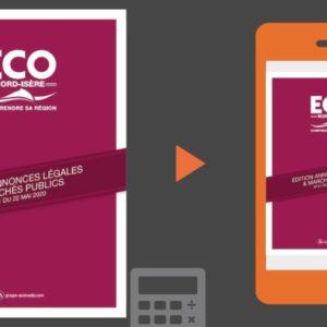 Vos annonces légales et marchés publics ECO Nord Isère du 22 mai 2020