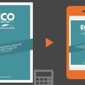 Vos annonces légales et marchés publics ECO de l'Ain du 21 mai 2020