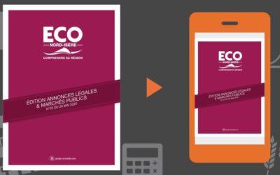 Vos annonces légales et marchés publics ECO Nord Isère du 29 mai 2020