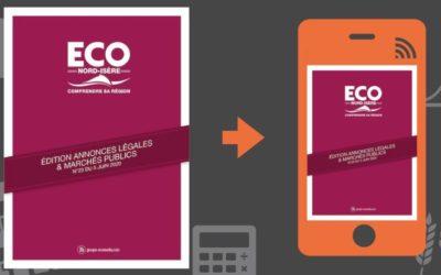 Vos annonces légales et marchés publics ECO Nord Isère du 5 juin 2020