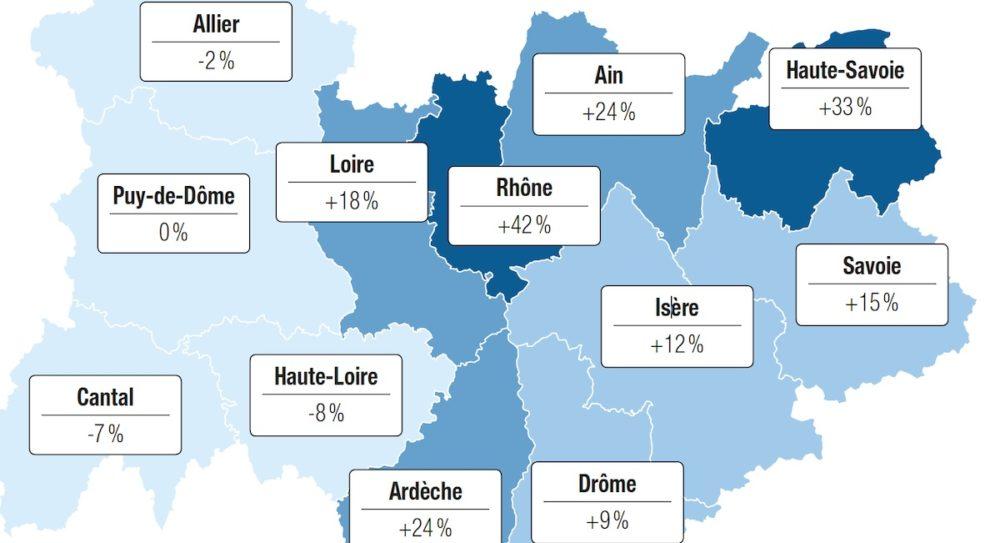 Covid-19 : surmortalité accrue dans le Rhône et la Haute-savoie