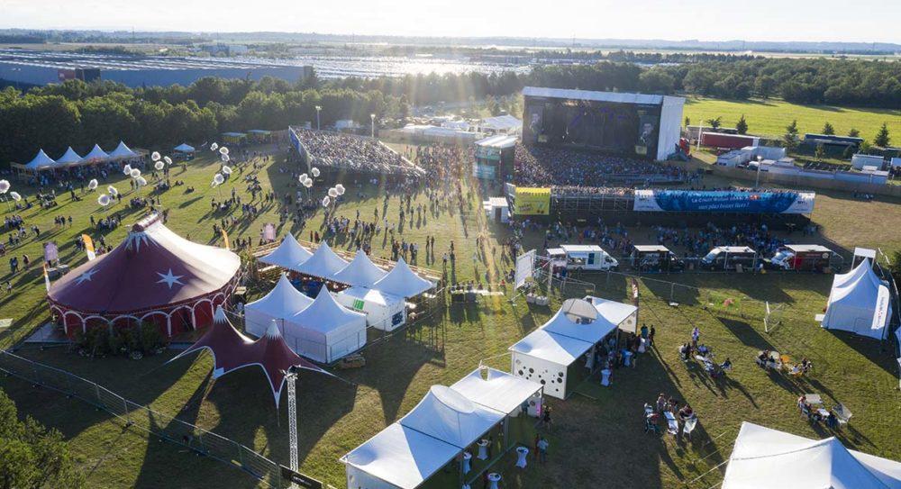 Sale temps pour les festivals