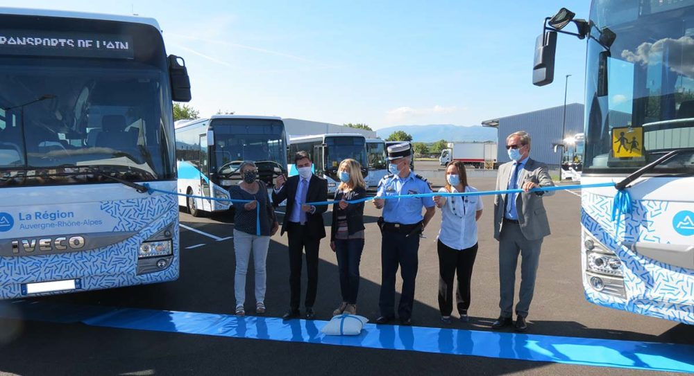 Régie des transport de l'Ain inauguration Valserhône
