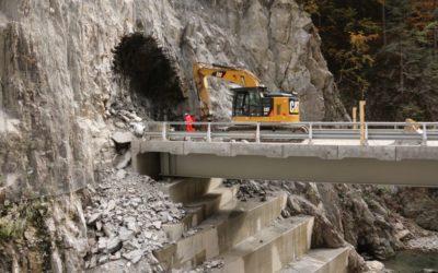 Les travaux se poursuivent dans les gorges de l'Arly
