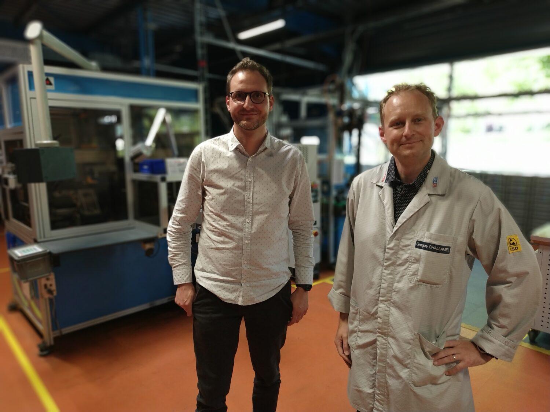 Vincent Schmitt (Conicio) et Grégory Challamel (Bosch Marignier) partagent une même vision du développement industriel, territorial et sociétal. (Photo : Eric Renevier)