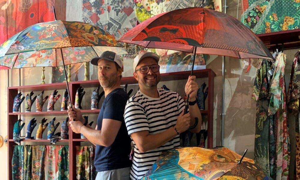 Brokante : la ganterie grenobloise lance sa collection de parapluies
