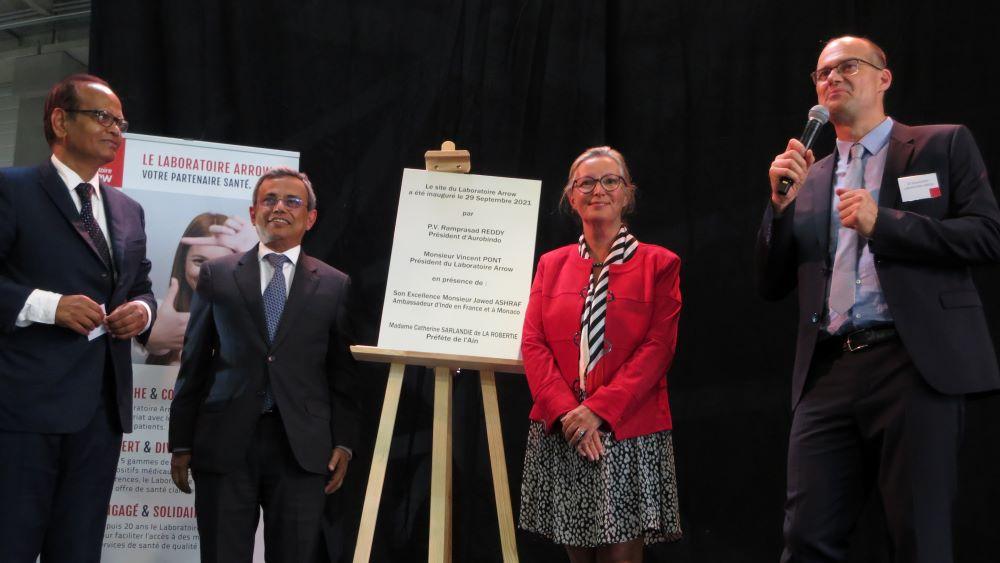À Saint-Vulbas, lors de l'inauguration du nouveau site industriel et logistique Arrow © Carole Muet